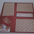 """Baby's 1st New Year c""-Premade Scrapbook Page 12x12"