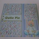 """Cutie Pie Boy""-Premade Scrapbook Page 12x12"