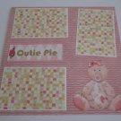 """Cutie Pie Girl 2nw""-Premade Scrapbook Page 12x12"