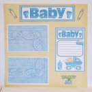 """Baby Boy Daddy and Me""-Premade Scrapbook Page 12x12"