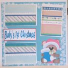 """""""Baby's 1st Christmas kw1a""""-Premade Scrapbook Page 12x12"""