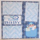 """Sweet Baby Boy b""-Premade Scrapbook Page 12x12"