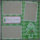 """Baking Cookies Tree""-Premade Scrapbook Page 12x12"