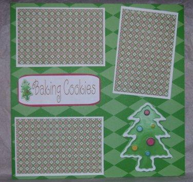 """Baking Cookies Tree""-Premade Scrapbook Page 12x12"