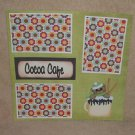 """""""Cocoa Cafe""""-Premade Scrapbook Page 12x12"""