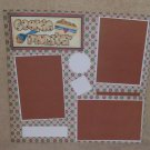 """Cookie Monster t""-Premade Scrapbook Page 12x12"