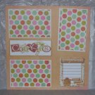 """Cookies Gingerbread nw""-Premade Scrapbook Page 12x12"