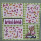 """Happiness Is Homemade""-Premade Scrapbook Page 12x12"