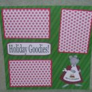 """Holiday Goodies""-Premade Scrapbook Page 12x12"