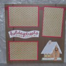 """Holiday Treats House""-Premade Scrapbook Page 12x12"