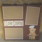"""I Love Cooking cs""-Premade Scrapbook Page 12x12"