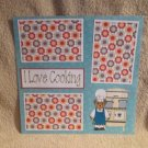 """I Love Cooking Bear""-Premade Scrapbook Page 12x12"