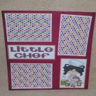 """Little Chef Girl bl""-Premade Scrapbook Page 12x12"