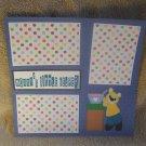 """Mommy's Little Helper Boy""-Premade Scrapbook Page 12x12"