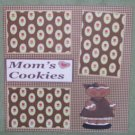 """Mom's Cookies""-Premade Scrapbook Page 12x12"