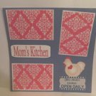 """Mom's Kitchen""-Premade Scrapbook Page 12x12"
