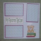 """My Favorite Recipe""-Premade Scrapbook Page 12x12"