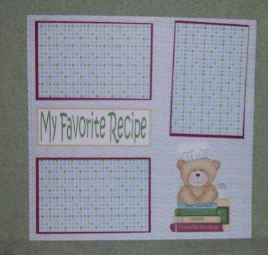 """My Favorite Recipe""-Premade Scrapbook Page 12x12"