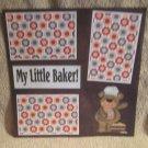 """My Little Baker""-Premade Scrapbook Page 12x12"