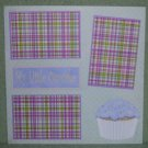 """My Little Cupcake""-Premade Scrapbook Page 12x12"