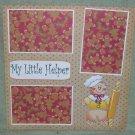 """My Little Helper Gingerbread Man w/Pin""-Premade Scrapbook Page 12x12"