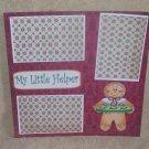 """My Little Helper Gingerbread Man w/Tray""-Premade Scrapbook Page 12x12"