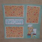 """What's Cooking?""-Premade Scrapbook Page 12x12"