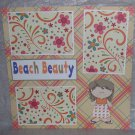 """Beach Beauty 1""-Premade Scrapbook Page 12x12"