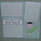 """Beach Bums Boy""-Premade Scrapbook Page 12x12"