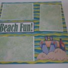 """Beach Fun a""-Premade Scrapbook Page 12x12"