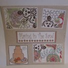"""Playing In The Sand bl""-Premade Scrapbook Page 12x12"