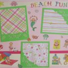 """Beach Fun st""-Premade Scrapbook Page 12x12"