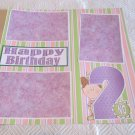 """2nd Birthday Girl""-Premade Scrapbook Page 12x12"