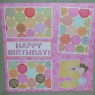 """5th Birthday Girl""-Premade Scrapbook Page 12x12"