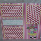 """Birthday Bash Girl""-Premade Scrapbook Page 12x12"