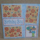 """Birthday Boy bl""-Premade Scrapbook Page 12x12"