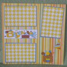 """Birthday Boy""-Premade Scrapbook Page 12x12"