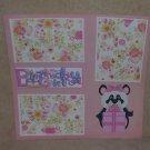 """Birthday Girl Panda""-Premade Scrapbook Page 12x12"
