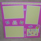 """Birthday Make A Wish 1a2""-Premade Scrapbook Page 12x12"