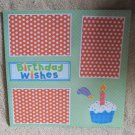 """""""Birthday Wishes ab""""-Premade Scrapbook Page 12x12"""