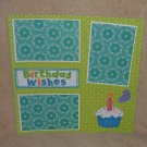 """Birthday Wishes""-Premade Scrapbook Page 12x12"
