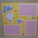 """Happy Birthday 1a4""-Premade Scrapbook Page 12x12"