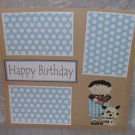 """Happy Birthday Boy""-Premade Scrapbook Page 12x12"