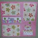 """Happy Birthday Cake a""-Premade Scrapbook Page 12x12"