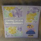 """Happy Birthday Girl""-Premade Scrapbook Page 12x12"