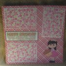"""Happy Birthday Princess""-Premade Scrapbook Page 12x12"