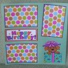 """Happy Birthday Puppy""-Premade Scrapbook Page 12x12"