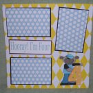 """Hooray I'm Four""-Premade Scrapbook Page 12x12"