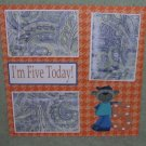 """I'm Five Today""-Premade Scrapbook Page 12x12"