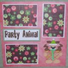 """Party Animal Lion""-Premade Scrapbook Page 12x12"